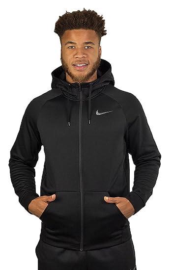 Nike Men Therma Training Hoodie Black, Dark Grey 800187-010 Size S