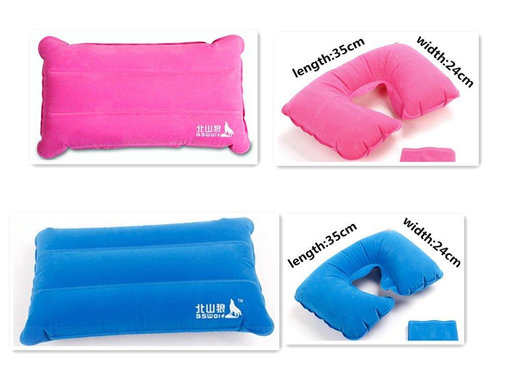 キャンプマット/ 防湿パッド/ 昼休みパッドと枕 100G ブルー B00JJG9PFM  Outdoor Camping Pillow (set of 4)