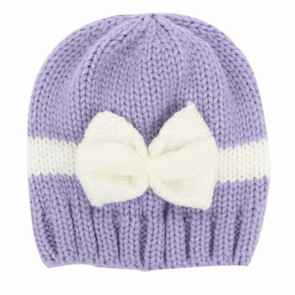 Kuyou Baby Kids Winter Mütze Neugeboren Jungen Mädchen Strickmütze Beanie