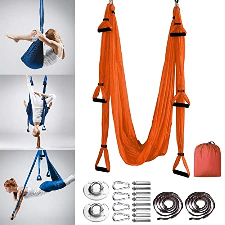 MQSS Silk Aerial Yoga Swing Hammock Kit - Trapeze Yoga Kit ...