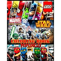LEGO 3 in 1: coloring book:SUPER HEROES (DC&MARVEL), STAR WARS, NINJAGO, activity book for kids and adults
