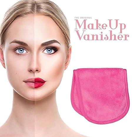 Guante démaquillant rosa de gran talla Makeup vanisher- accesorio maquillaje en tejido microfibra - Fijación para piel sensible y piel acnéique - Cosmética ...