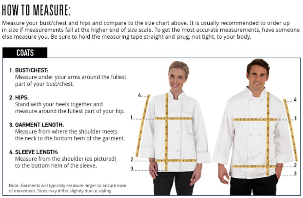 Unisex Long Sleeve Chef Coat/Double Breasted/Plastic Button Reversible Front Closure (S-2X, 2 Colors) (White, Medium) by On The Line (Image #6)