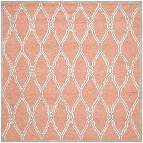 Safavieh CAM352W-8SQ Cambridge Collection Handcrafted Moroccan Geometric Premium Wool Area Rug, 8' Square, ()
