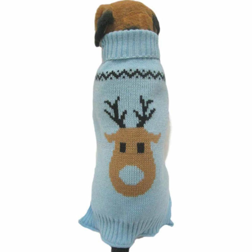 Fossrn Ropa Perro Navidad Suéter de Punto Abrigo Jersey de Reno ...