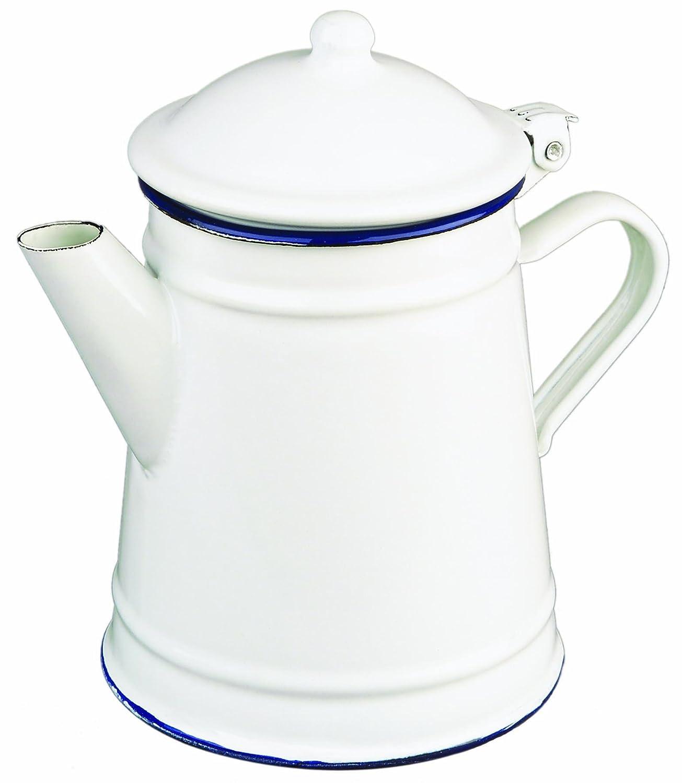Ibili 903210 Cafeti/ère Conique en acier /émaill/é vitrifi/é Blanche 1 l