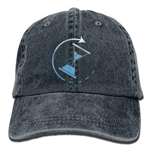 Time's Running Unisex Fashion Denim Bucket Hat Baseball Popular Snapback Caps Cool Adjustable Dad Cap Denim Sports Valance