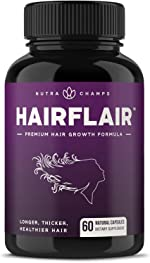 HairFlair - Hair Growth Vitamins with Biotin for Longer, Stronger, Healthier