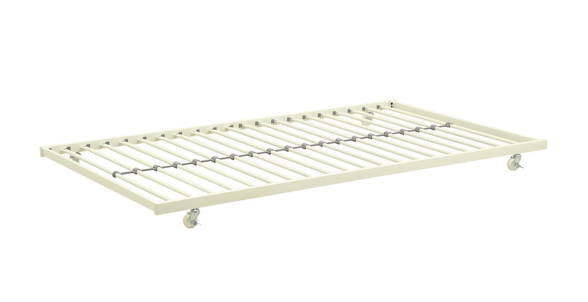 DHP Universal Trundle Metal Frame, Fits Most Daybeds - White Trundle Only