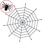 Spider Web 5 Foot Rope With Spider Included For Scary Halloween Decor Or Birthday Party Decorations