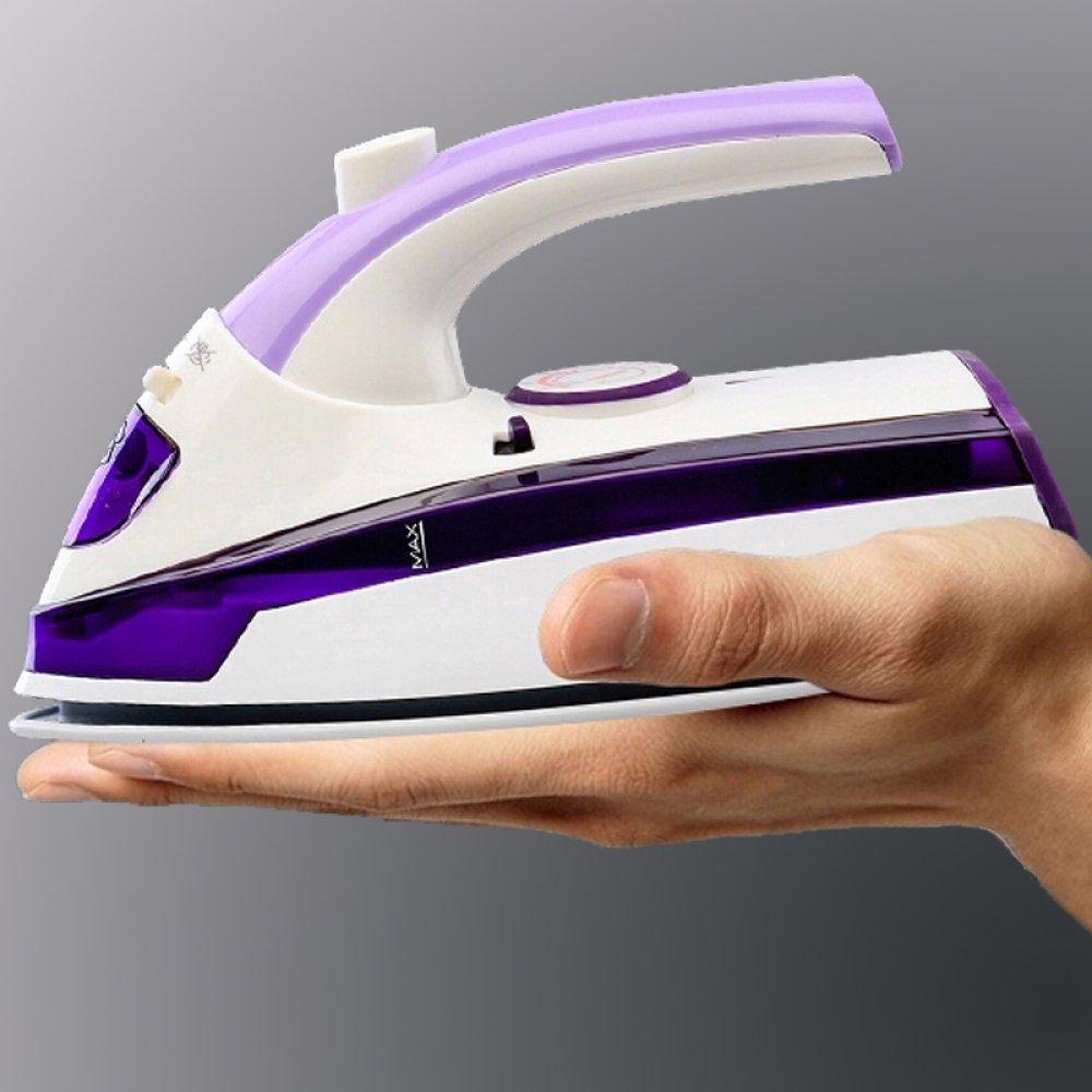 Reisebügeleisen Mini Steamer,Mit Plam Größe Leichte Handheld Garment Steamer Portable Für Die Reise,Purple-18*9.5*7.5cm