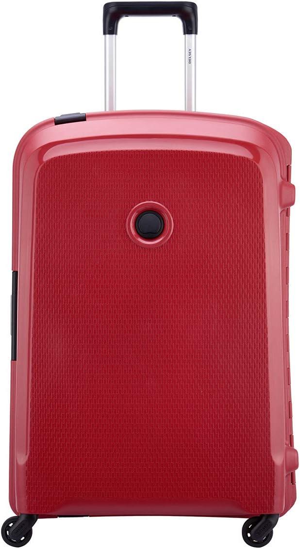 Delsey Belfort 3 - Maleta con 4 Ruedas (70 cm), Rojo (Rojo) - 3843820-04