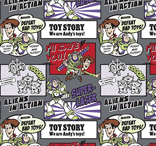 Flannel Disney Toy Story Woody Buzz Fabric from Camelot by The Yard (Disney Flannel Fabric)