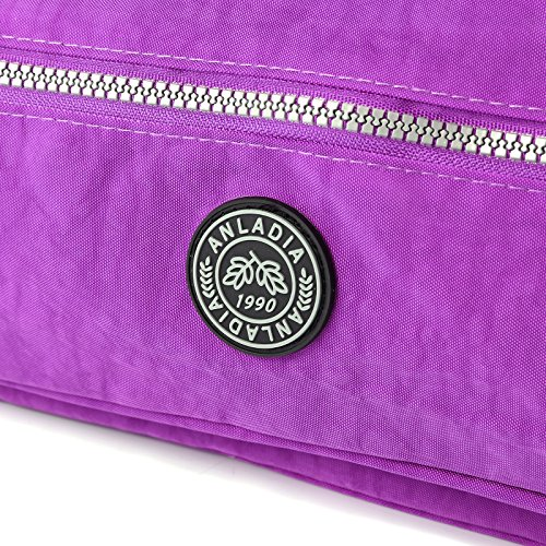 Messenger Purse Body Purple Pocket Tote Shoulder Bag Nylon Casual Multi Womens Cross Bags Travel wa0RIn7