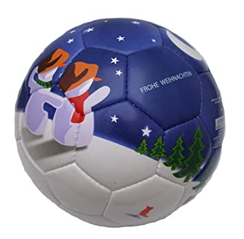 Derbystar Fussball Frohe Weihnachten Weiss Lila Grosse 5