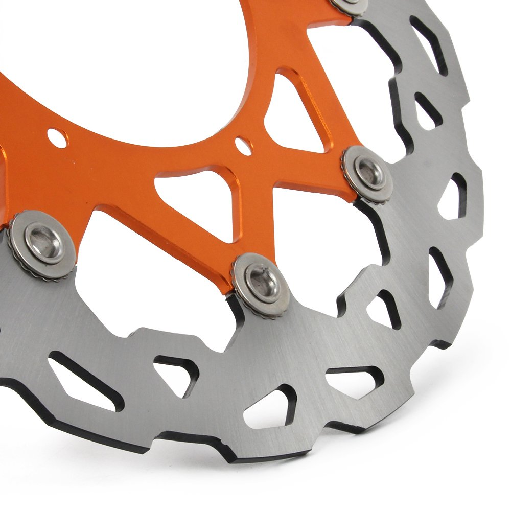Jfg Racing 320mm Orange Front Floating Brake Disc Ktm Lc4 400 Wiring Diagram Bracket For Sx Mx Gs Exc Mxc Sxf Sxs Xcw Xcf Xcg Sxc540 Sxs450f Sxs450 Mxc450 Exc450