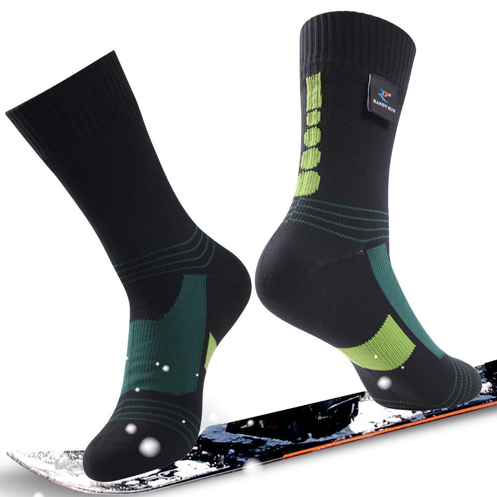 通気性防水ソックス、[ SGS認定]ランディSunユニセックス通気スキートレッキングハイキングソックス Socks B07P2H2Z5L 1 Medium 1 Calf Pair-Black&Green-Waterproof Mid Calf Socks Medium Medium 1 Pair-Black&Green-Waterproof Mid Calf Socks, DOOON ショップ:c2e7e091 --- ero-shop-kupidon.ru