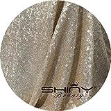 ShinyBeauty Aisles Runner-50ftx4ft-Champagne,Sparkle Wedding Aisle Runner Glitter Carpet Aisle Runner Floor Runner Wedding Ceremony Decor