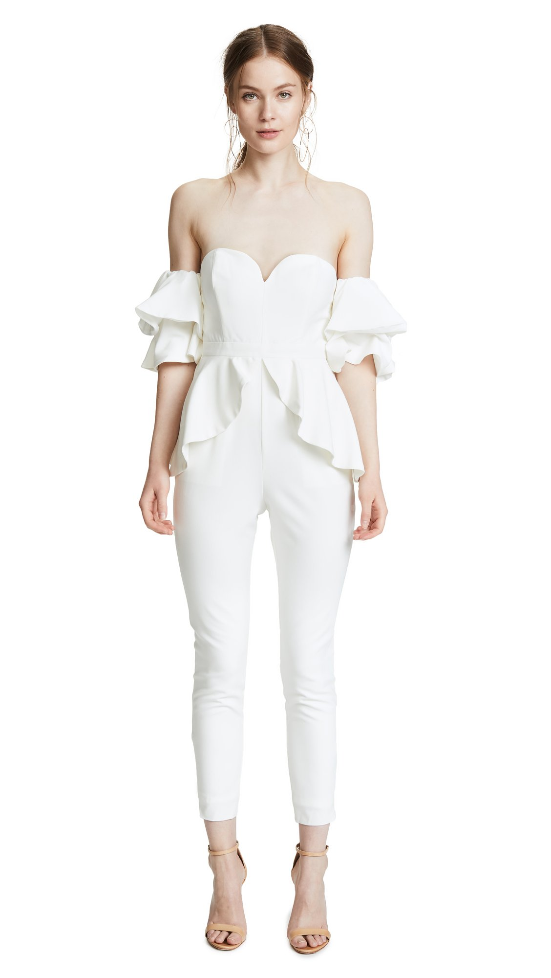 Fame and Partners Women's The Perry Jumpsuit, White, 4