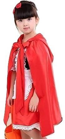 a1f19ad577b7b 110サイズ ハロウィン 子供衣装 女の子 赤ずきん風 マント 赤ずきん ドレス ワンピース コスチューム赤