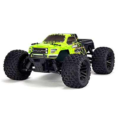 ARRMA 1/10 Granite Mega 4x4 RC Monster Truck 4WD RTR with 2.4Ghz Spektrum Radio, 7C 2400mAh NiMH Battery & Charger, Green/Black (ARA102714T1): Toys & Games