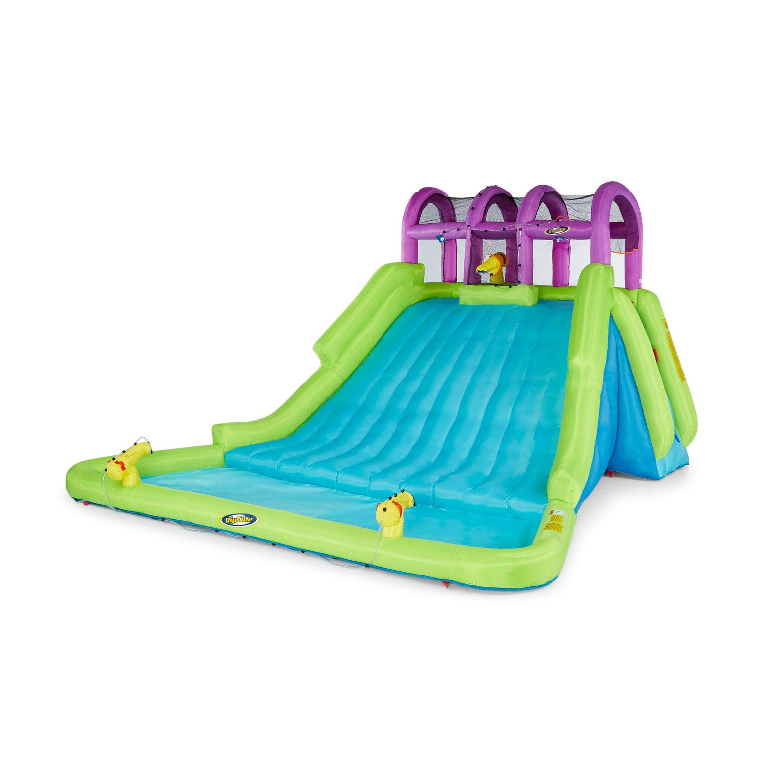 Kahuna Mega Blast Inflatable Backyard Kiddie Pool and Slide Water Park by Kahuna