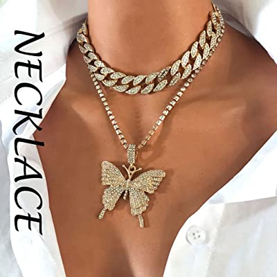 Fashion Necklace Butterfly Crystal Pendant Elements Jewellery Girls Ladies UK