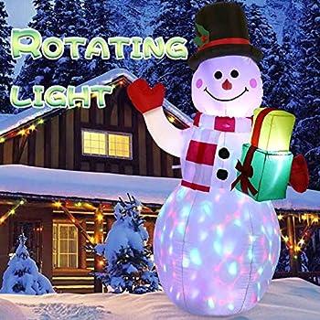 Amazon.com: AerWo - Adornos inflables de Navidad de 4.9 ft ...