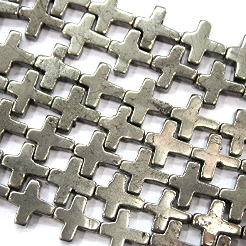 Natural Genuine Pyrite Cross 1015mm Gemstone Beads for Jewerly Making Findings