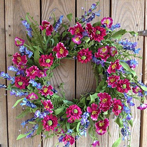 """Flora Decor Larkspur Wreath - 22"""""""
