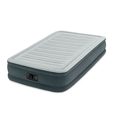 Intex Recreation Comfort Plush Mid Rise Dura-Beam Airbed with Built-in Electric Pump, Bed Height 13 , Twin