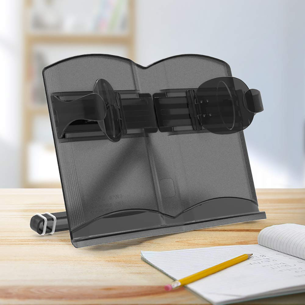GYFY Multi-Function Adjustment Children's Reading Book Reader Environmentally Friendly Portable Student Reading Frame,Black