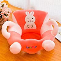 Kids Sit Learning Chair Cartoon Anti-fall Comfortable Baby Soft Sofa Cover orange