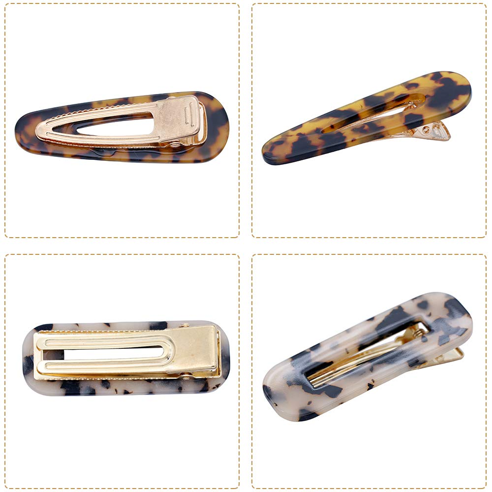 10 Pcs Acrylic Resin Hair Barrettes Fashion Geometric Alligator Hair Clips for Women and Ladies Hair Accessories by fani (Image #5)