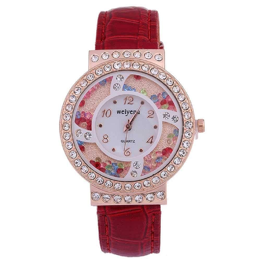 WSSVAN Bola de Color de Diamante para Mujer Reloj Reloj ...