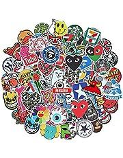 Giney Peerless 100 Stks Stickers Bomb Vinyl Skateboard Gitaar Bagage Pack Tide Merk Logo Decals (Niet Herhalen)