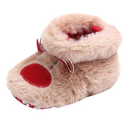 Christmas Shoes For Girls.Longra Baby Shoes Toddler Girls Boys Cartoon Fluffy Deer