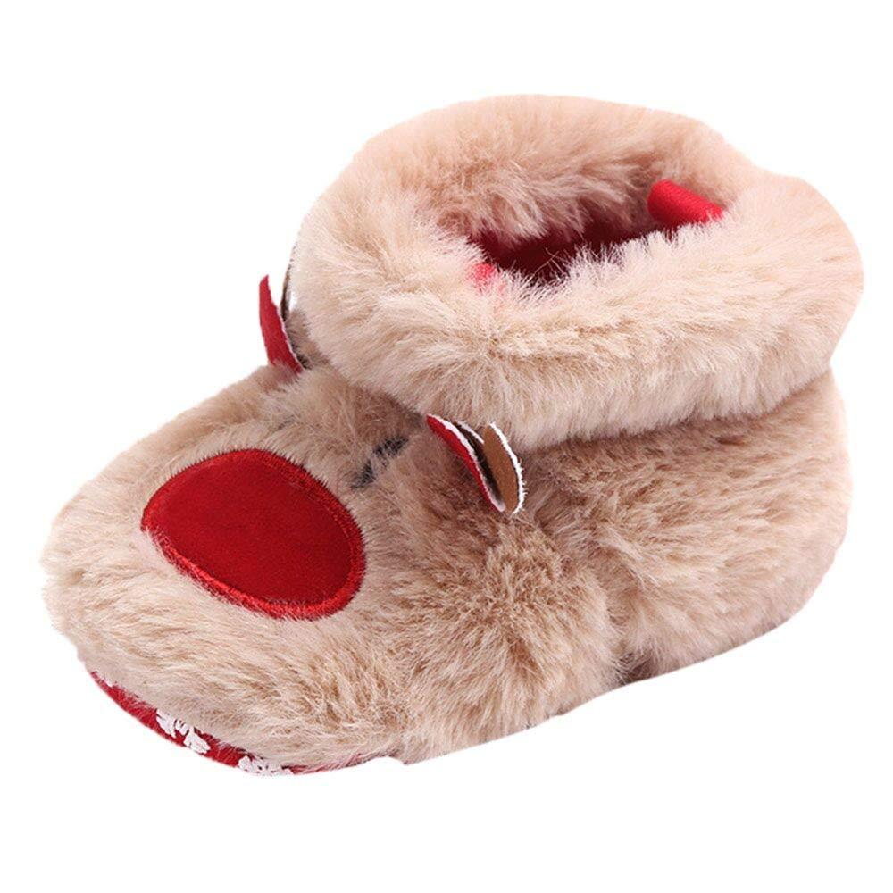 LineCill calzini neonato antiscivolo inverno elastici Baby Toddler con Fondo Morbido per bambini e neonati Pantofole da Bambino Modello di Animale Confortevole calzini