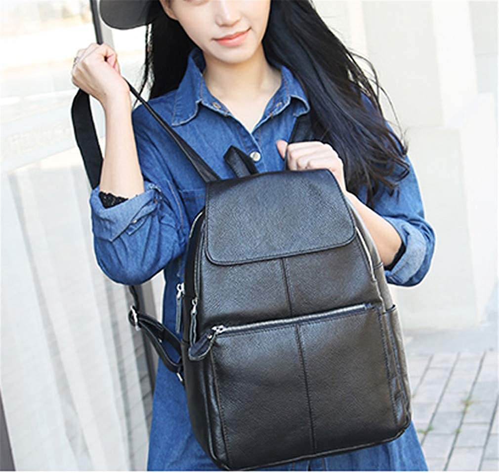 Women Backpack Top Layer Cow Leather Ladies Backpacks Travel School Party Bags