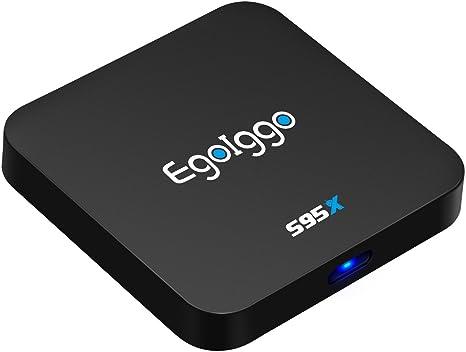 EgoIggo S95X Android 6.0 TV Box Amlogic S905X 4 núcleos Arm Cortex-A53, con 1 GB + 8 GB WiFi Smart TV Box: Amazon.es: Electrónica