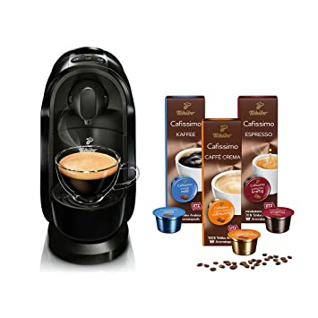 672589c353dfd9 Tchibo Cafissimo Pure Kapselmaschine (für Kaffee, Espresso, Caffé Crema und  Tee) (inkl. 30 Kapseln, Schwarz)