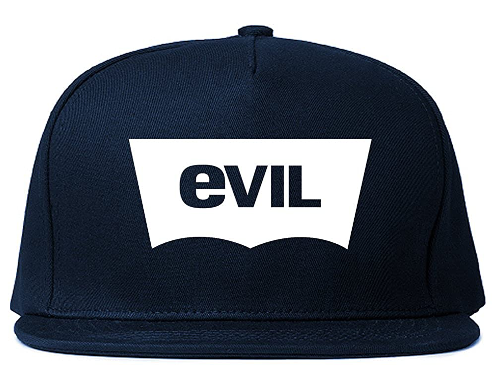 708a499225b Amazon.com  FASHIONISGREAT Evil Jeans Logo Snapback Hat Black  Clothing