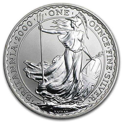 2000 UK Great Britain 1 oz Silver Britannia BU 1 OZ Brilliant Uncirculated