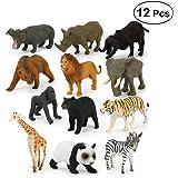 動物 模型 モデル フィギュア 野生動物 おもちゃ ミニ 子供 教育認知 プラスチック 人気動物 アニマル 動物園 誕生日 プレゼント 知育玩具 コレクション 12セット