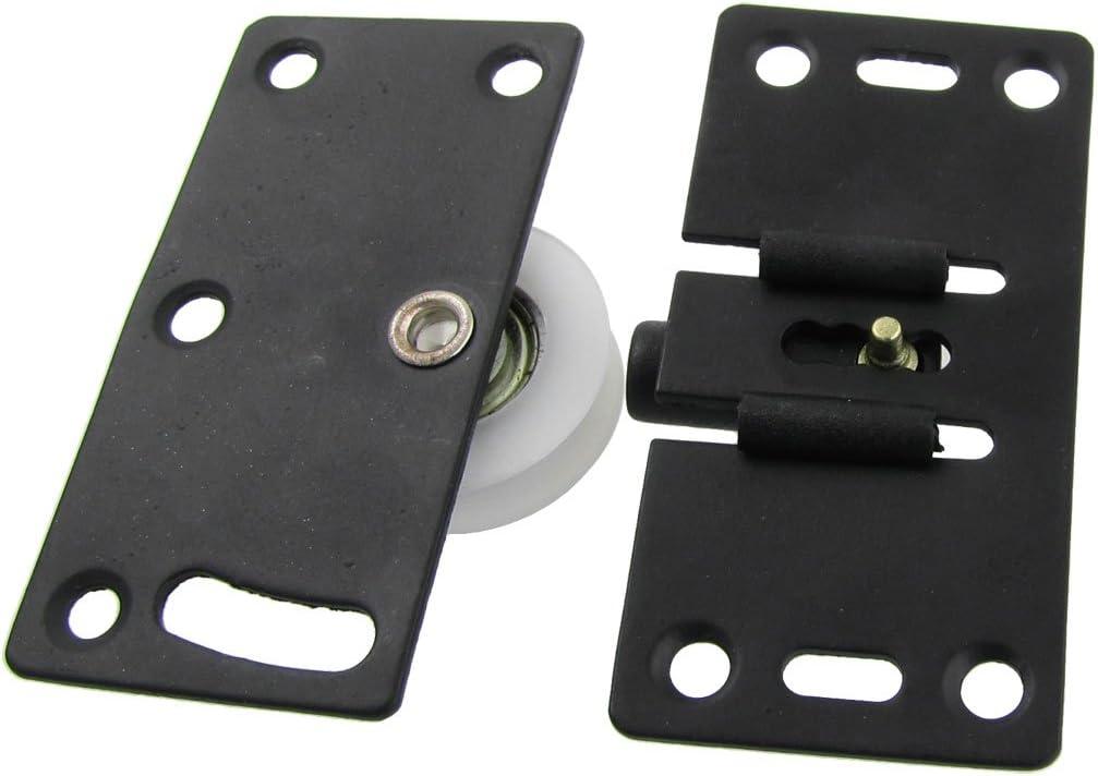 30 mm de diámetro White Nylon rueda muebles puerta corredera rodillo Set: Amazon.es: Bricolaje y herramientas