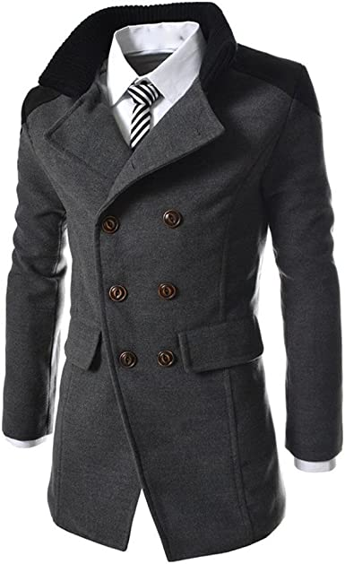 DAY.LIN Hommes Hiver Automne Chaud Double Breasted Coupe