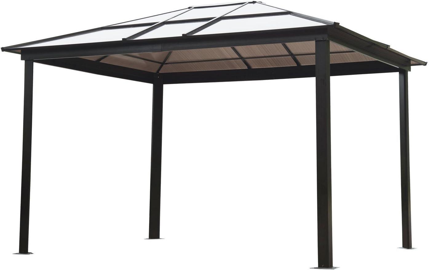 Outsunny® es un lujo Pavillon Gartenpavillon Alu Partyzelt PC lichtdurchlässigem Gartenzelt con techo.: Amazon.es: Jardín