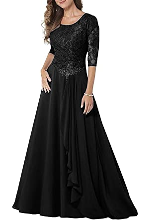 d651993329d UGLY Women s Half Sleeves Chiffon Mother of The Bride Dresses Lace Pleated  Formal Dresses UG026 Size