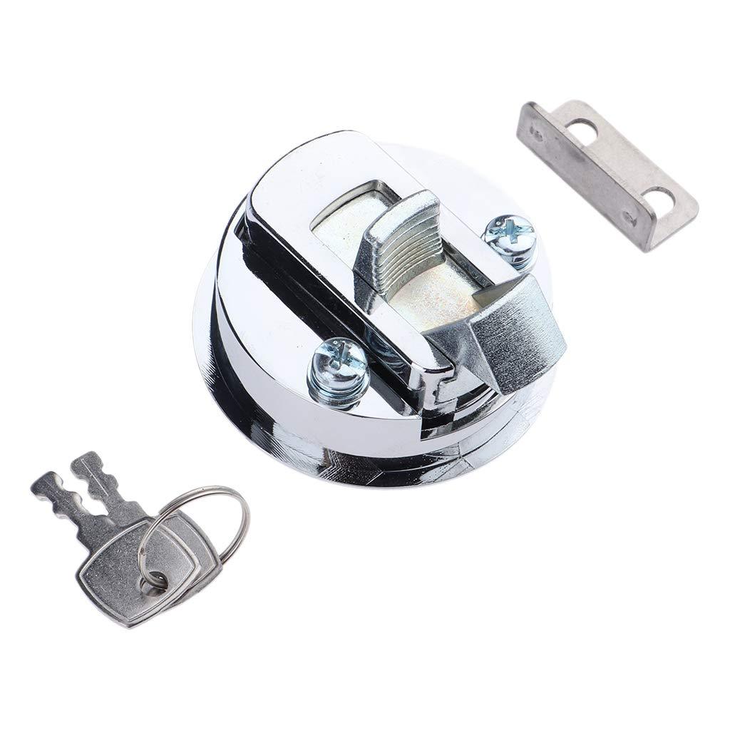 Almencla 4 x Marine Boat 316 Stainless Steel 2i NCH Flush Pull Hatch Slam Latch Lift Handle Keyed Lock for RV Boats Doors Hardware