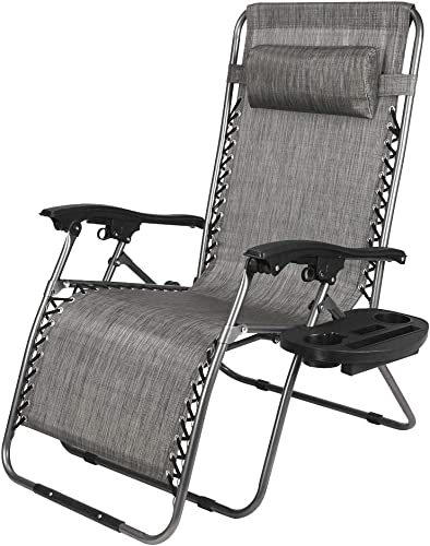 Portable Adjustable Folding Outdoor Lawn Lounge Chair,Camping Reclining Chair Recliners with Pillows for Patio,Poolside, Beach, Yard,Foldable Deck Chair Siesta Single Bed 68.7 x 24 x 18